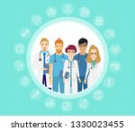 vector illustration of doctors... | Shutterstock .eps vector #1330023455