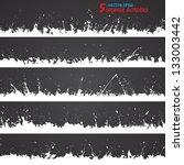 set of grunge borders. grunge... | Shutterstock .eps vector #133003442