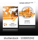 orange world globe business...