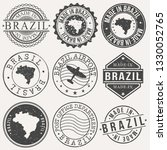 brazil set of stamps. travel... | Shutterstock .eps vector #1330052765