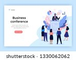 speaker at business conference... | Shutterstock .eps vector #1330062062