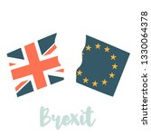 United Kingdom And Eu Flags...