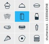 vector illustration of 12 meal... | Shutterstock .eps vector #1330068548