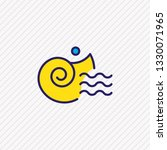 vector illustration of seashell ... | Shutterstock .eps vector #1330071965
