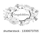 card with blooming lily.... | Shutterstock .eps vector #1330073705