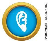 ear icon blue vector isolated...   Shutterstock .eps vector #1330074482