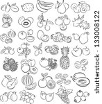 vector illustration of  fruits... | Shutterstock .eps vector #133008122