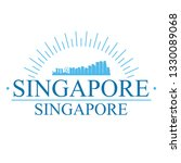 singapore city. banner design.... | Shutterstock .eps vector #1330089068