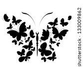 Stock vector butterflies design 133009862