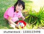 cute little asian child girl... | Shutterstock . vector #1330115498