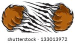 Bear claw - stock vector