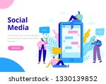 virtual communication concept.... | Shutterstock .eps vector #1330139852