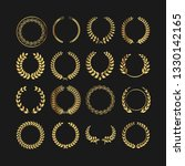 collection of golden wreaths on ...   Shutterstock .eps vector #1330142165