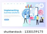 implementing business solutions ... | Shutterstock .eps vector #1330159175