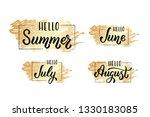Lettering Summer Months June ...