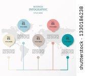 infographics 5  number options... | Shutterstock .eps vector #1330186238