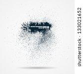 abstract black grunge banner | Shutterstock .eps vector #133021652