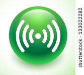 green wifi icon | Shutterstock .eps vector #133022282