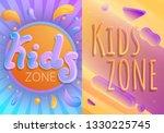 children playground banner set. ...   Shutterstock .eps vector #1330225745
