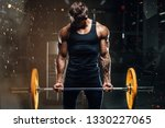 handsome strong athletic...   Shutterstock . vector #1330227065