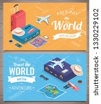 travel banners in isometric... | Shutterstock .eps vector #1330229102