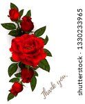 beautiful bouquet with red... | Shutterstock .eps vector #1330233965