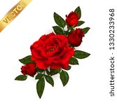 beautiful bouquet with red... | Shutterstock .eps vector #1330233968