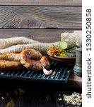 spicy homemade sausages pork... | Shutterstock . vector #1330250858