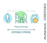 physical therapy concept icon.... | Shutterstock .eps vector #1330251812