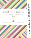 vertical certificate of... | Shutterstock .eps vector #133025276