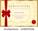 certificate of completion ... | Shutterstock .eps vector #133025336