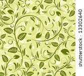 flower seamless pattern with... | Shutterstock .eps vector #13302640