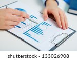 close up of printed statistics... | Shutterstock . vector #133026908
