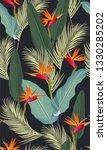 seamless pattern tropical...   Shutterstock .eps vector #1330285202