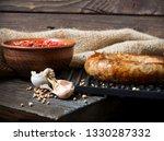 spicy homemade sausages pork... | Shutterstock . vector #1330287332