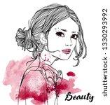 portrait of young beautiful... | Shutterstock .eps vector #1330293992