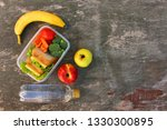 sandwiches  fruits and... | Shutterstock . vector #1330300895