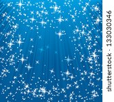 blue shine star background | Shutterstock .eps vector #133030346