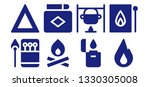 flammable icon set. 8 filled... | Shutterstock .eps vector #1330305008