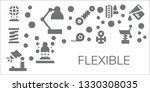 flexible icon set. 11 filled... | Shutterstock .eps vector #1330308035