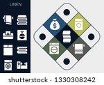 linen icon set. 13 filled linen ... | Shutterstock .eps vector #1330308242