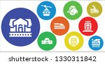 tram icon set. 9 filled tram... | Shutterstock .eps vector #1330311842