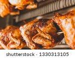 Chicken Roasted On Rotisserie