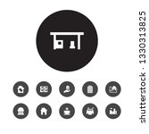 set of 11 architecture icons... | Shutterstock .eps vector #1330313825