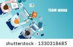 office teamwork concept. vector ... | Shutterstock .eps vector #1330318685