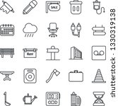 thin line icon set   signpost... | Shutterstock .eps vector #1330319138