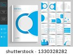 16 pages creative business...   Shutterstock .eps vector #1330328282