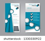 flyer template. vectical banner ... | Shutterstock .eps vector #1330330922