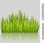 fresh green grass border... | Shutterstock .eps vector #1330333502