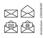set of mail icon.message... | Shutterstock .eps vector #1330338185
